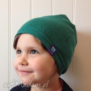 ubranka cienka czapka bawełniana, 2 rozmiary, zielona, czapka, dresówka, bawełna