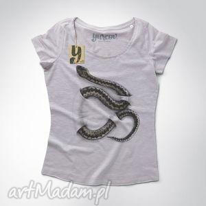 żmija koszulka z nadrukiem, tshirt, damski, nadruk bluzki