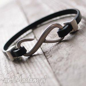 bransoletka infinity - man, skóra, rzemienie, biżuteria