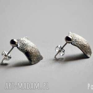 srebrne listki, metaloplastyka, srebro, rękodzieła, kwadrat, romby biżuteria