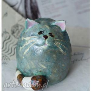 kot z ogonkiem w paski, kot, ceramika, pod choinkę prezent