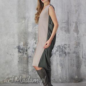 sukienki lodowa - sukienka, beżowa, wieczorowa, koktajlowa, sylwestrowa