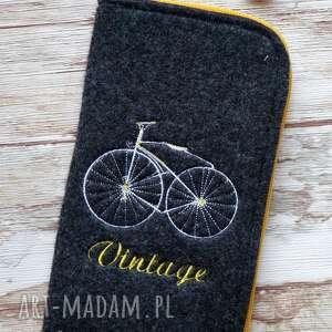 Prezent Filcowe etui na telefon - Vintage Bike, etui, retro, rower, vintage, zygzak