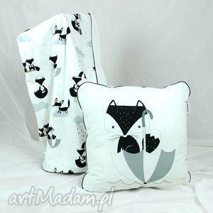 pokoik dziecka poduszka lis deszczowy 46x46, poduszka, dekoracyjna, pościel, dziecko