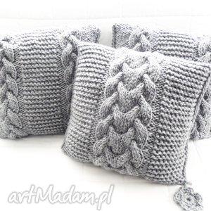 poduszki robione ręcznie wełna 40x40 cm 3szt, poduszki, poduszka