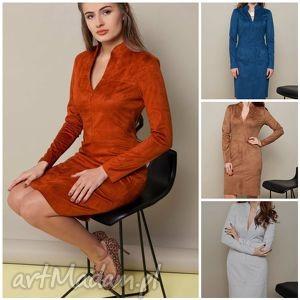 elegancka sukienka z długim rękawem, sukienka, midi, elegancka, ubrania, oversize