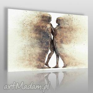 Obraz na płótnie - PARA SYLWETKI POSTACIE 120x80 cm (38401), para, cienie, sylwetki
