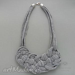 naszyjniki nancy, bawełna, metal, natura biżuteria