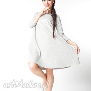 sukienki s m sukienka typu klosz wiosenna, dzianinowa, dresowa, luźna, trapezowa