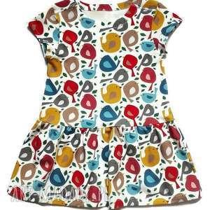 ubranka sukienka dla dziewczynki - wróbelki , sukienka, sukieneczka, wróbelki