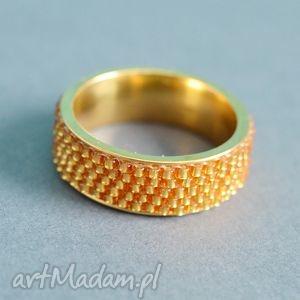 ręcznie zrobione obrączki obrączka yes! - złota