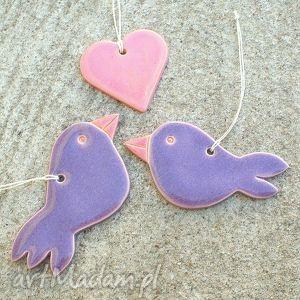 unikalny prezent, romantyczne zawieszki, ptaki, dekoracja, lawenda