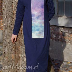 sukienki jesienne niebo, maxi, klasyczna, dresowa, wygodna, kieszenie, golf ubrania