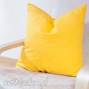 poduszki bawełniana żółta poduszka, poszewka, kulkasilikonowa, wiosenna