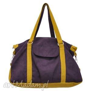 07-0002 fioletowa torebka sportowa torba fitness pigeon, modne, markowe, torebki
