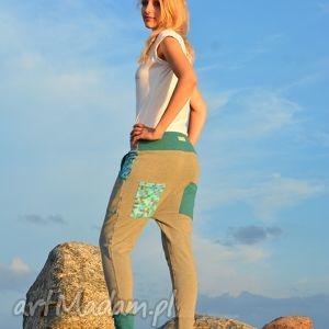 Spodnie Pixele damskie - baggy pants, dres, wygodne, yoga, oryginalne, ciążowe