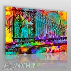 obraz na płótnie - most kolory 120x80 cm 39701 , most, spacer, miasto, romantyczny