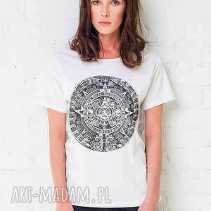 mayan oversize t-shirt, oversize, tshirt, biały, bawełna, moda, casual, prezent na