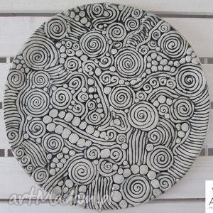 aztecka patera, ceramiczna, handmade, parapetówka, orientalna ceramika