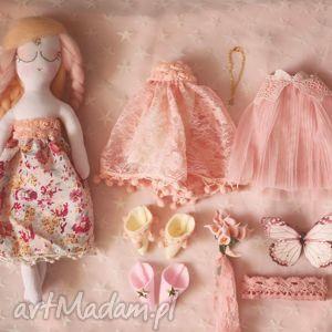 bajka z magiczną szafą - elfia lalka bursztyn, lalka, wróżka, ubranka, komplet