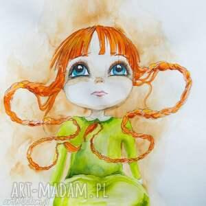 adriana laube art obraz na płótnie mała czarodziejka artystki plastyka adriany