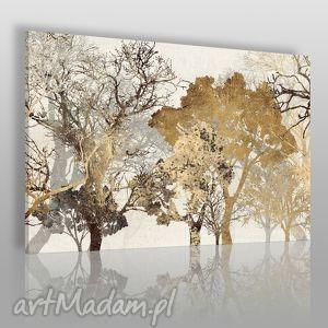 Obraz na płótnie - DRZEWA BRĄZ 120x80 cm (18102), drzewa, stonowany, abstrakcja