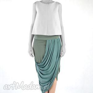 spódnice mizuna - spódnica, oryginalna, dzienna, praca, wieczorowa, draperia ubrania