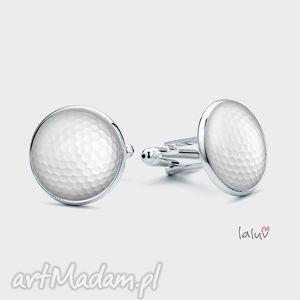 spinki do mankietów piŁka golfowa - dołek, golf, sport, kije, pole, prezent