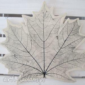 ręcznie zrobione ceramika patera ceramiczna liść