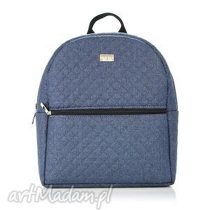 PLECAK DAMSKI 650 JEANSOWY, plecak, damski, jeansowy, pakowny, lekki, wygodny