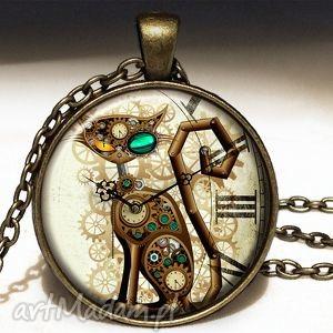 Prezent Steampunk owy Kot - Duży medalion z łańcuszkiem, steampunk, kot,
