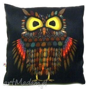 poduszka dekoracyjna z sową, poduszka, sowa, dekoracyjna, miękka poduszki