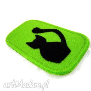 aneta pruchnik cat in green, filc, etui