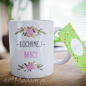 ceramika kubek na prezent dzień babci i dziadka kochanej 0287, kubek