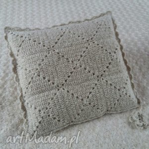 poduszka wykonana ręcznie wełna 45x45 cm 1szt, handmade, wełna, poszewki, poszewka