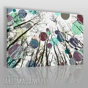 obraz na płótnie - koła drzewa kolory 120x80 cm 24201 , abstrakcja, kolory