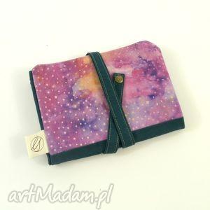 etui piórnik cosmic dust purple emerald duży , piórnik, szkoła, biuro, przybornik
