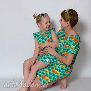 sukienka tęcza mama, tęcza, kolorowa, rodzinny sukienki ubrania, prezent na święta