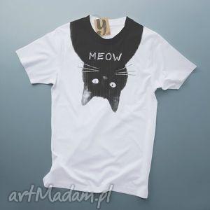 meow koszulka z kotem, kot, nadruk ubrania