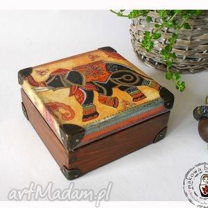unikalny prezent, pudełka indyjska kasetka boho , słoń, boho, indie, etno