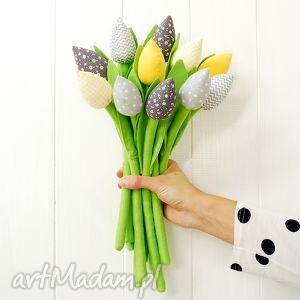 tulipany - bawełniane kwiaty, tulipany, bawełniane, szyte, kwiatki dom