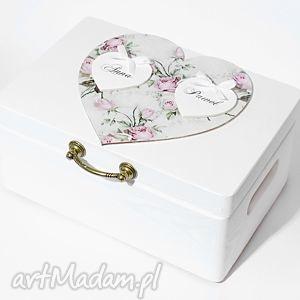 księgi gości ślubne pudełko na koperty kopertówka personalizowane vintage serce