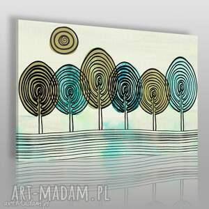 obrazy obraz na płótnie - abstrakcja drzewa 120x80 cm 33801 , drzewa, odciski