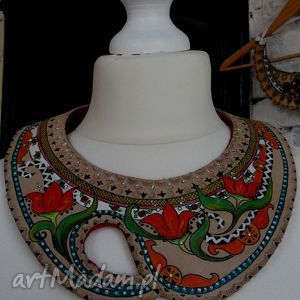 folk design- biżuteria ediedy - folk, design, naszyjnik, sutasz, unikat