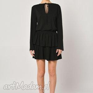 bluzka - czarnooka zuzanna, wiązana, jersey, poszerzana ubrania