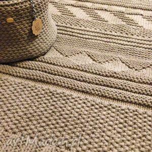beżowy dywan ze sznurka bawełnianego, handmade, dywan, rękodzieło, carpet, bawełna