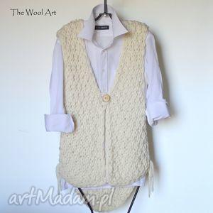 unikalny prezent, gruba kamizelka, sweter, kardigan, wełniane, ubranie