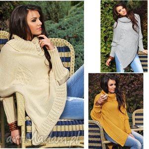 świąteczny prezent, asymetryczny sweter ponczo, sweter, narzutka, wdzianko