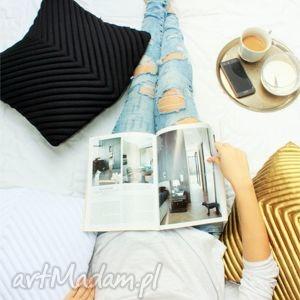 poduszki poduszka chevron 50 black, poduszkaozdobna, poduszkadekoracyjna