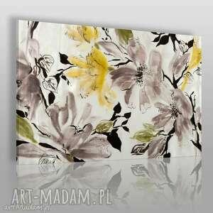 obraz na płótnie - kwiaty wiśnia 120x80 cm 15401 , kwiaty, wiśnia, drzewo, natura